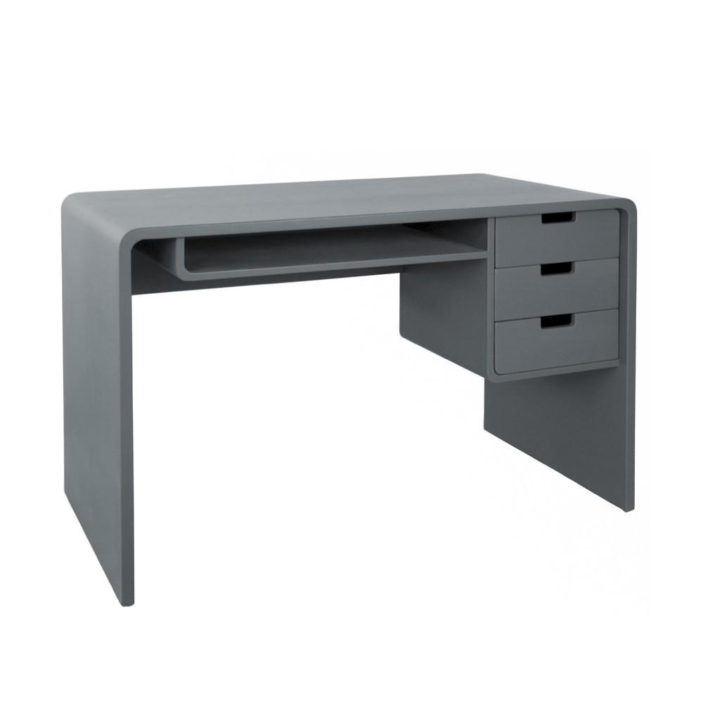 Bureau gris for Bureau gris et blanc