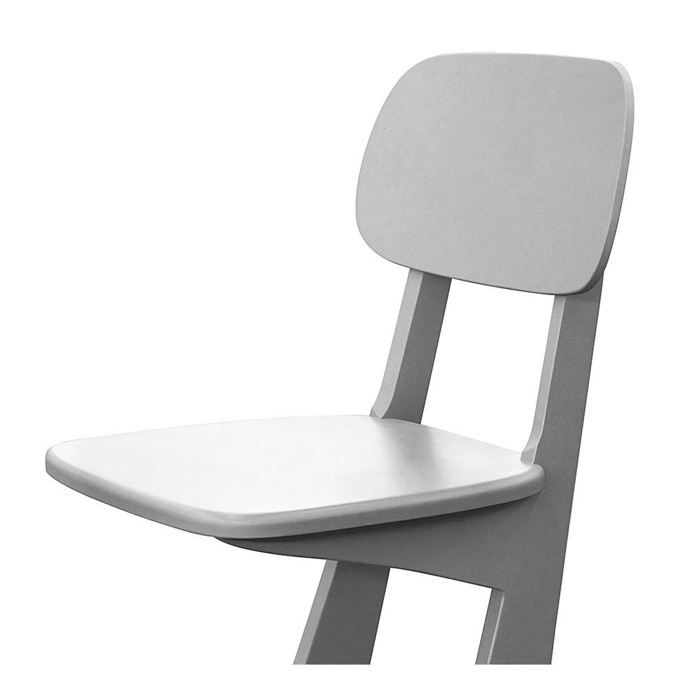 chaise patins gris clair laurette mobilier smallable. Black Bedroom Furniture Sets. Home Design Ideas