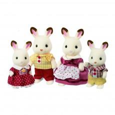Famille Lapin Chocolat Blanc