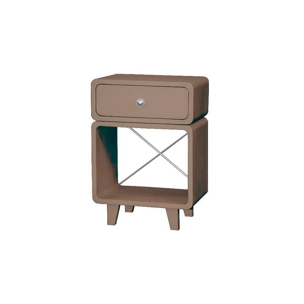 Table de chevet zzz taupe laurette mobilier smallable - Mini table de chevet ...