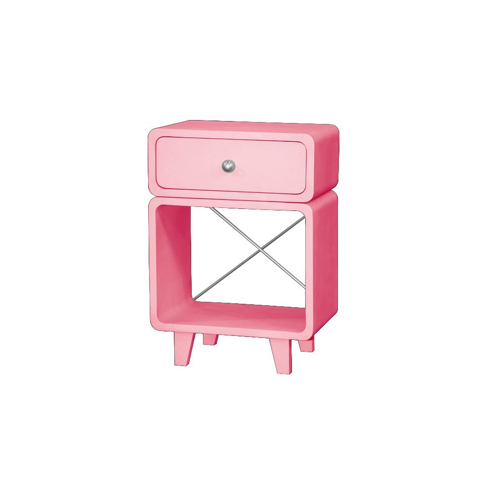 Table de chevet zzz vieux rose laurette mobilier for Table de chevet rose