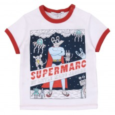 T-shirt Super Marc Bébé Blanc