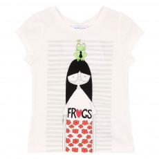 T-shirt Miss Marc Frogs Ecru