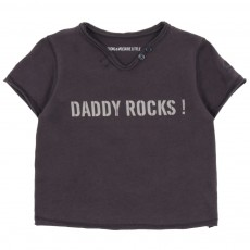 T-shirt Daddy Rocks