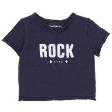 T-shirt Rock Bleu marine