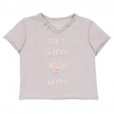 T-shirt Don't Worry Gris perle