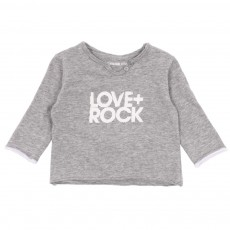 T-shirt Love   Rock Gris chiné