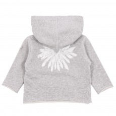 Sweat Zip Capuche Plumes