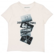 T-shirt Zadig Rocks Paris Blanc