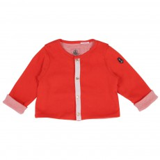 Cardigan  revers Rouge