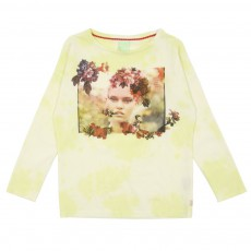 T-shirt Tie and Dye Jaune
