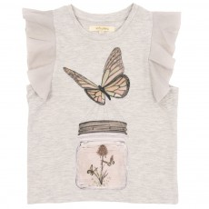 T-shirt Papillon Ecru chiné