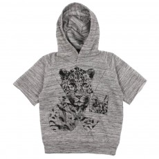 Sweat Léopard Gris chiné