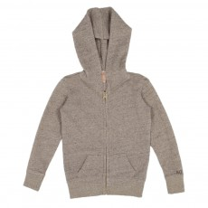 Sweat Capuche Lurex Gris chiné
