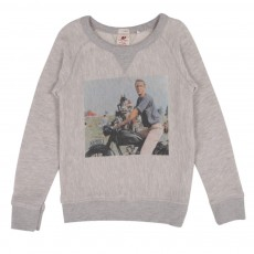 Sweat Moto Gris chiné
