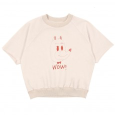 Sweat Wow Tête De Renard Beige