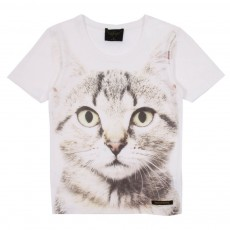 T-shirt Nikki Chat Blanc