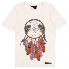 T-shirt Nikki Dreamcatcher Ecru