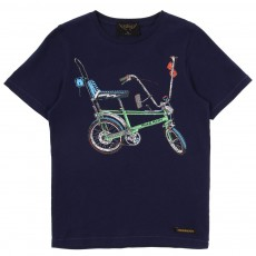 T-shirt Bike Bleu marine