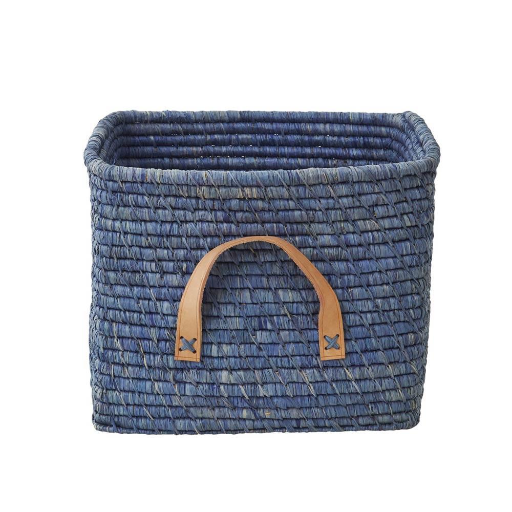 panier de rangement 30 cm bleu p trole rice d coration. Black Bedroom Furniture Sets. Home Design Ideas