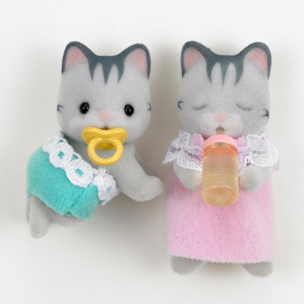b b jumeaux chat gris sylvanian jeux jouets loisirs enfant smallable. Black Bedroom Furniture Sets. Home Design Ideas
