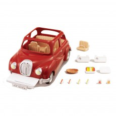 Voiture rouge famille Sylvanian Rouge