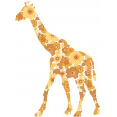 Sticker Girafe - Ocre
