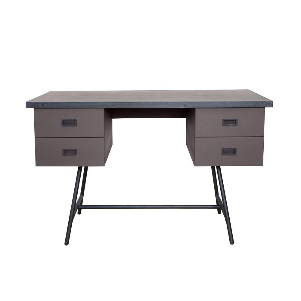 bureau l50 taupe laurette mobilier smallable. Black Bedroom Furniture Sets. Home Design Ideas