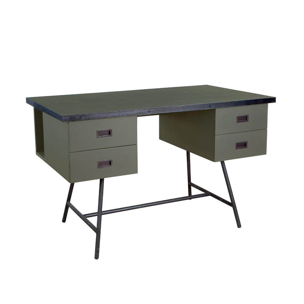 bureau l50 vert de gris laurette. Black Bedroom Furniture Sets. Home Design Ideas