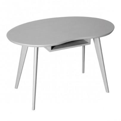 table haricot gris clair le fait main. Black Bedroom Furniture Sets. Home Design Ideas