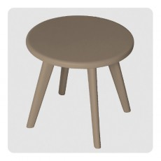 Tabouret Haricot - Taupe