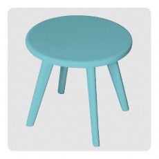 Tabouret Haricot - Turquoise