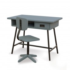 Bureau La classe et sa chaise d'atelier - Gris foncé