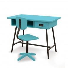 Bureau La classe et sa chaise d'atelier - Turquoise