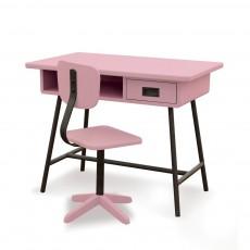Bureau La classe et sa chaise d'atelier - Vieux rose
