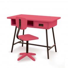 Bureau La classe et sa chaise d'atelier Rose bonbon