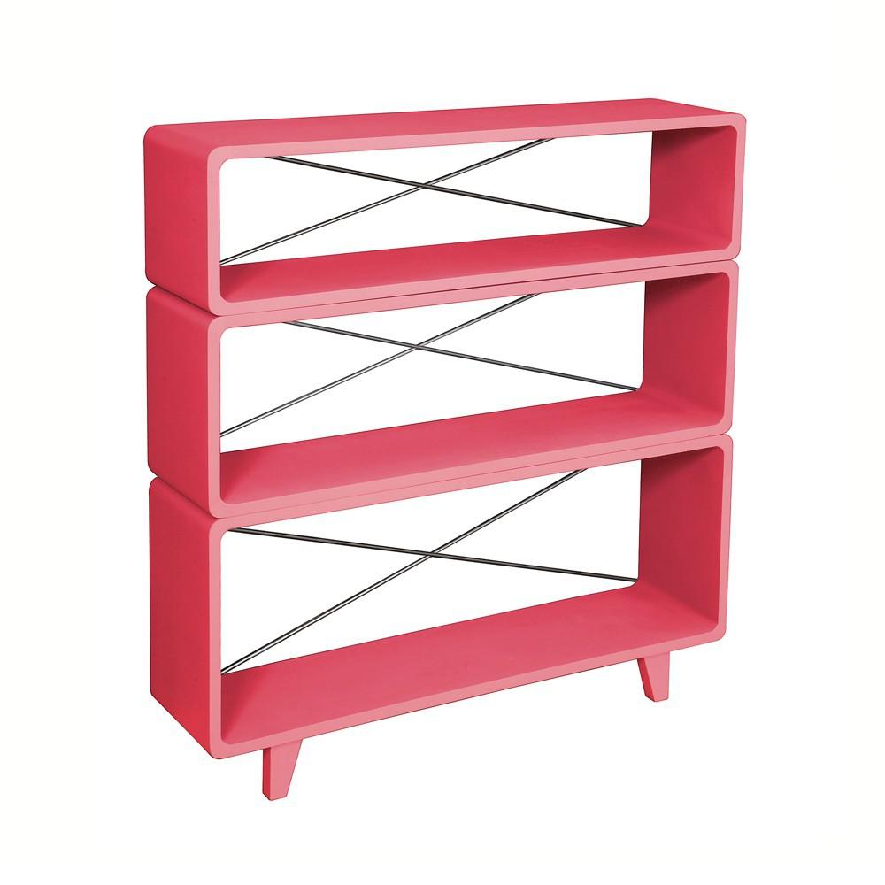 Biblioth que millefeuille bubble gum laurette mobilier for Laurette meubles