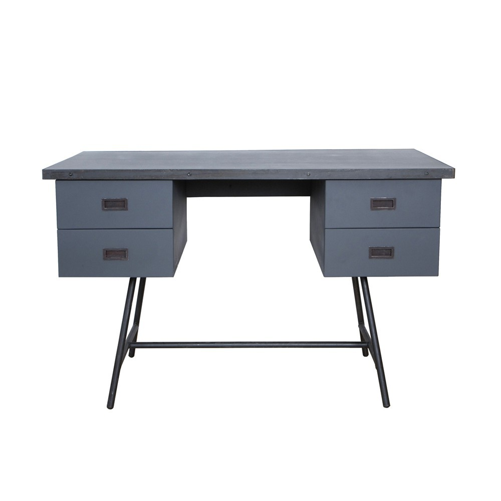 bureau l50 gris fonc laurette mobilier smallable. Black Bedroom Furniture Sets. Home Design Ideas