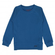 Sweat coton bio Bleu