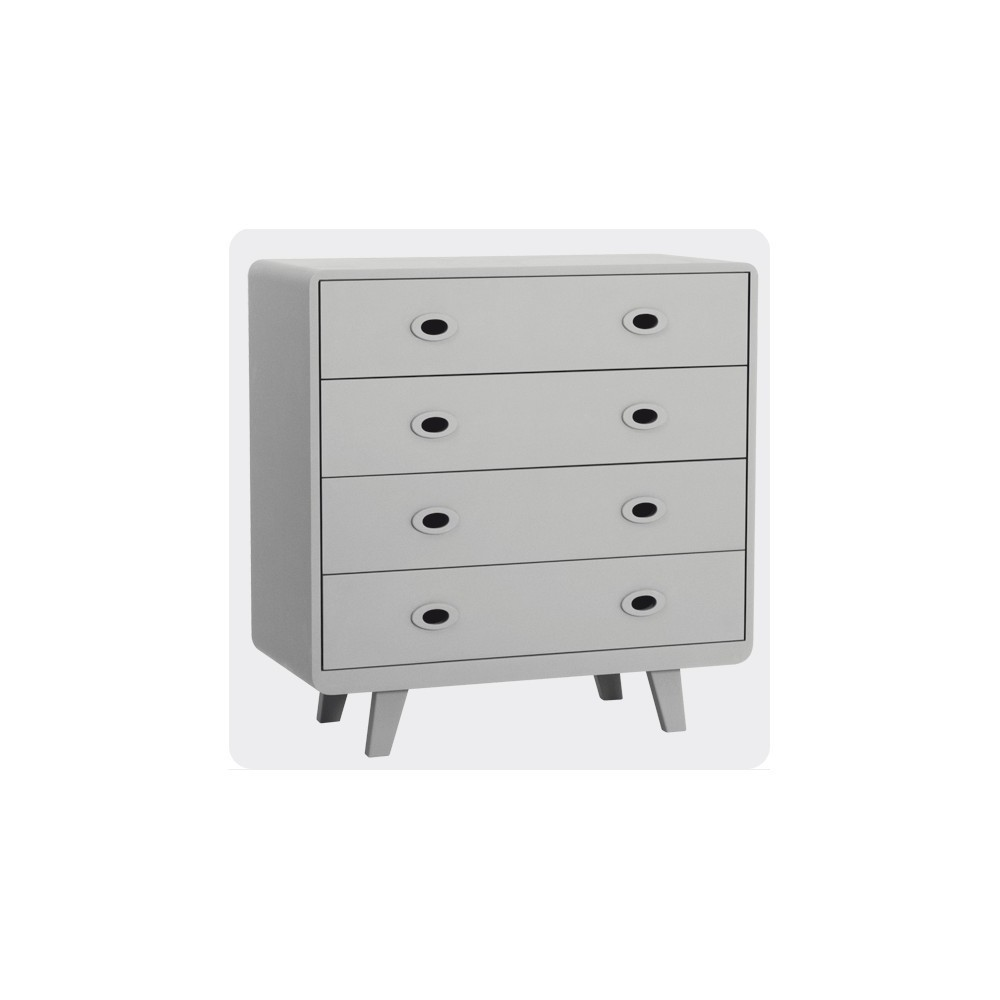 commode toi et moi gris clair laurette mobilier smallable. Black Bedroom Furniture Sets. Home Design Ideas