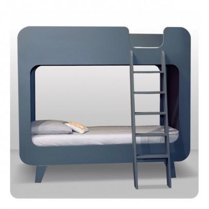 Lit superpos s pile ou face gris fonc laurette for Laurette meubles