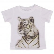 T-shirt Chuckle Tigre Gris chiné