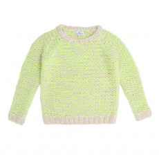 Pull Point Mousse Jaune fluo