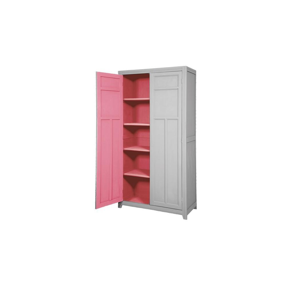 armoire parisienne gris clair bubble gum laurette. Black Bedroom Furniture Sets. Home Design Ideas