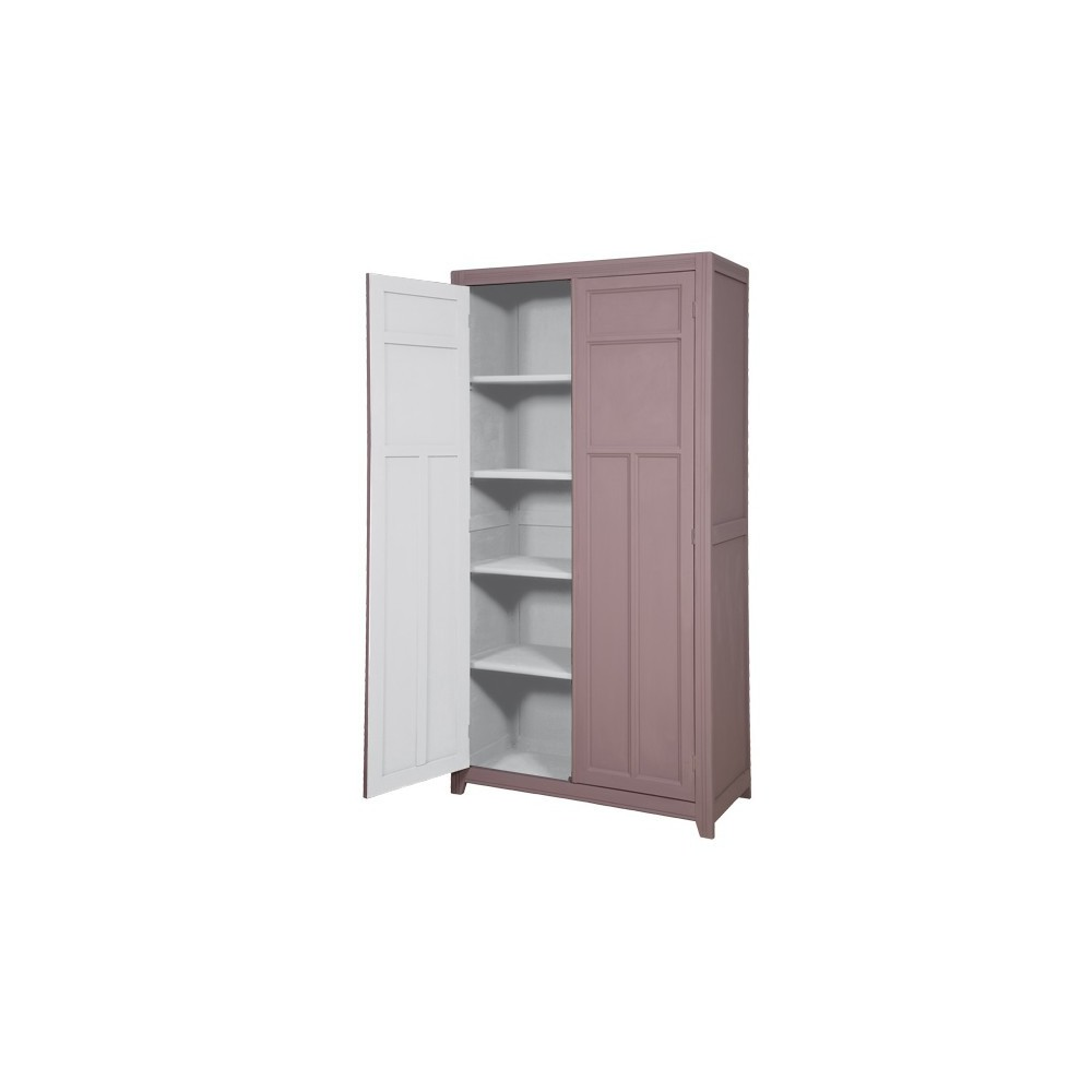 armoire parisienne taupe gris clair laurette mobilier. Black Bedroom Furniture Sets. Home Design Ideas