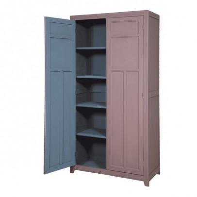Armoire parisienne taupe gris fonc laurette mobilier smallable - Armoire couleur taupe ...