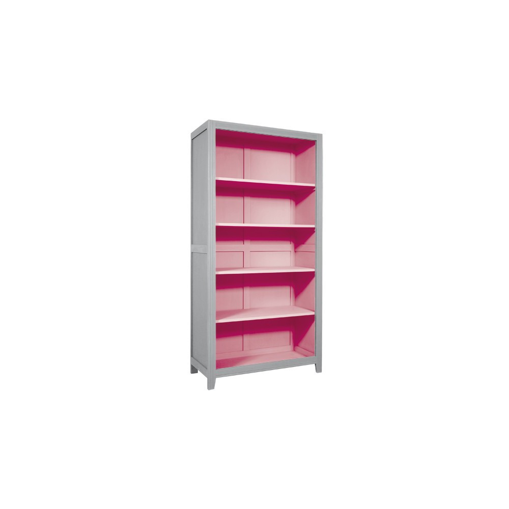 Soft pink and gray nursery-- bookcase by target, keepsake ...  Pink And Grey Bookcase