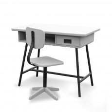 Bureau La classe et sa chaise d'atelier - Gris clair