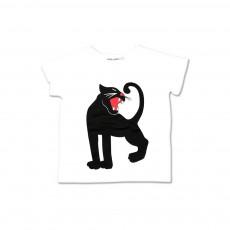 T-shirt Panthère Blanc