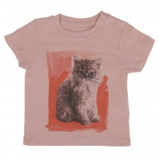 T-shirt Chuckle Chat Vieux Rose